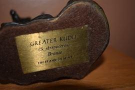 "Beautiful Bronze Statue of ""GREATER KUDU (S. strepsiceros)"
