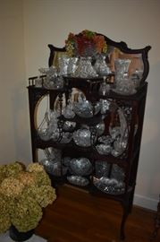 """Gorgeous and Elaborate are the words I use to describe this Classic Etagere"""" filled with American Brilliant Cut Glass"""