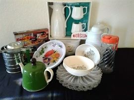 Pitchers, coffee carafe, platters & misc    https://ctbids.com/#!/description/share/71159