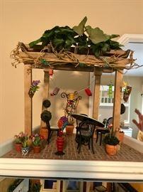 Retired American Girl Mini Illuma Room.  Patio Garden on Loft Top