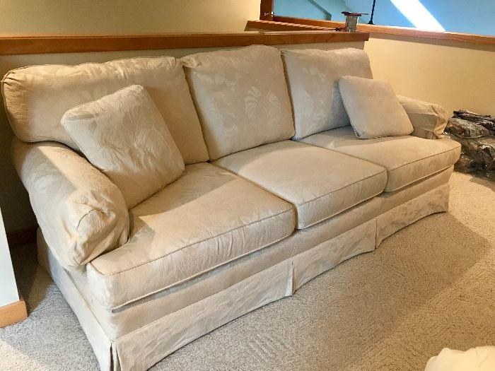 Cream textured sofa