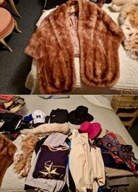 Clothing including Mink Stole