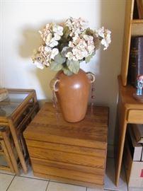 Terra Cotta Vase Floral Arrangement                                            2-Drawer Nightstand, matches 6-Drawer Dresser