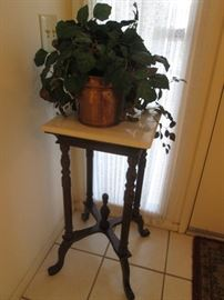 Plant Stand or Pedestal with MarbleTop