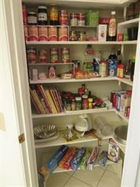 Loaded Pantry with Food Products, Spices and Papergoods