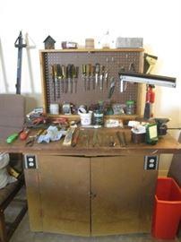 Great Vintage Work Table/Storage