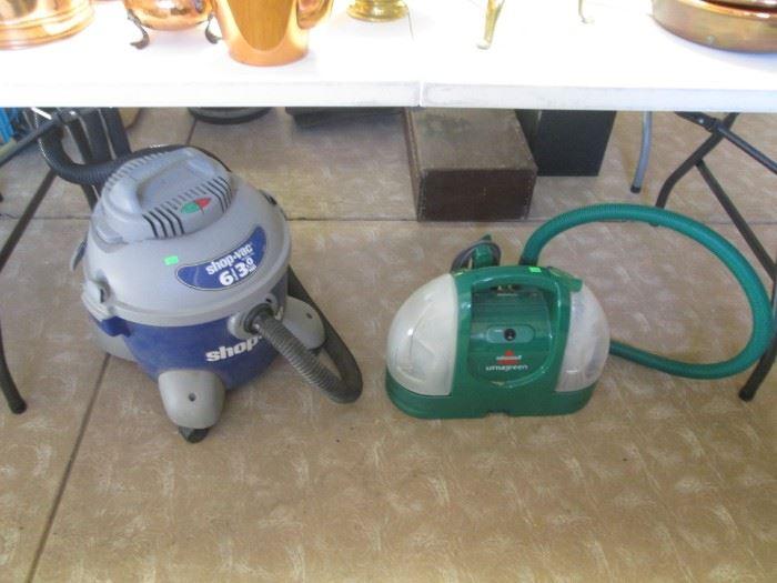 Shop Vac & Bissell Floor Scrubber