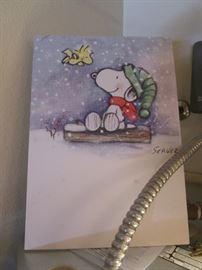 Snoopy & Woodstock, too cute!