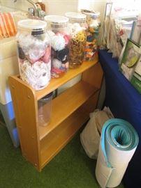 Craft Supplies & A Small Shelf Unit