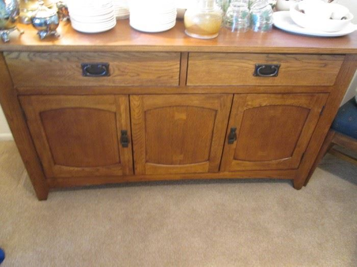 """Timberline Buffet, 2-Drawers and Lower Storage by American Home Furnishings, 56"""" X 18"""""""