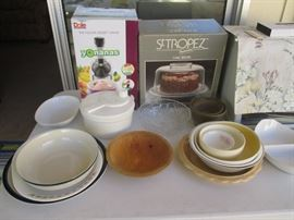 Lots of Kitchen Items for home use or entertaining!