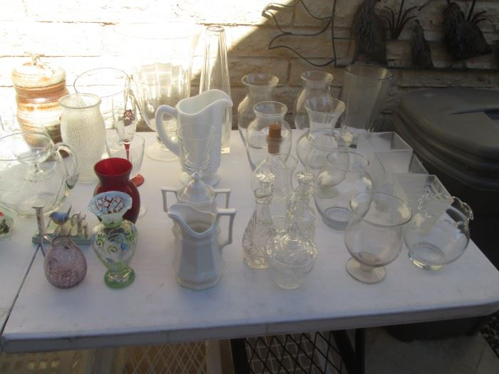Cruets, Cream/Sugar, Pitchers, Vases