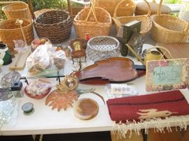 Baskets, Wood and Textiles