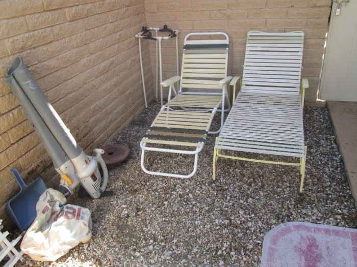 Yard Tools & Chaise Lounges