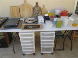 Plastic Goods, Cutting Boards, Some Tupperware