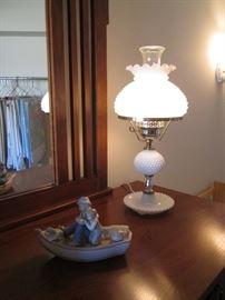 Hobnail-Style Hurricane Lamp