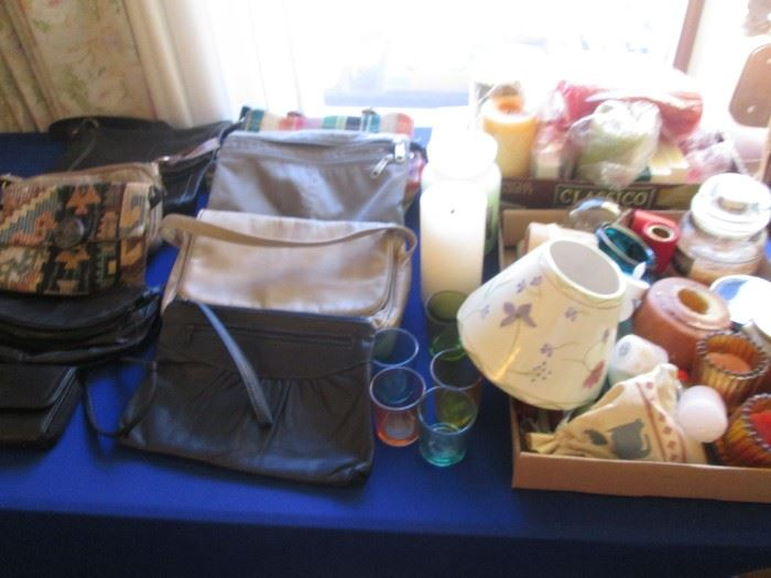 Purses + Variety of Candles