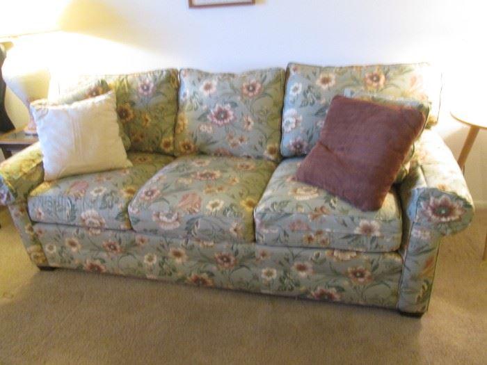 Sleeper Sofa by Ethan Allen, floral motif