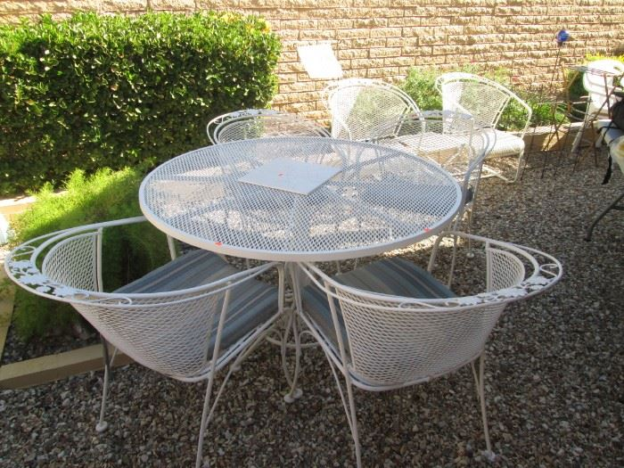 Wrought Iron Patio Set and Chairs