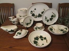 Metlox Ivy Dishes and Serving Pieces - 57 Pieces Total in Excellent Condition