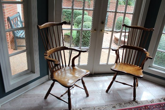 *HIGH BACK WING SPINDLE CHAIRS. *** SET OF 8