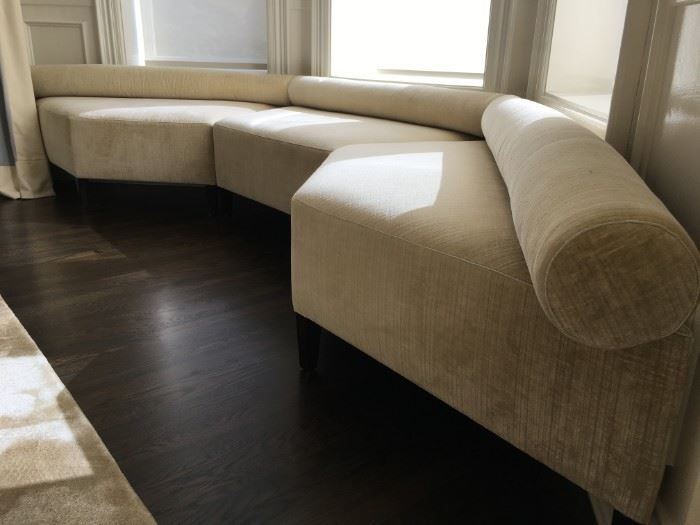 8) Custom Bay Window Seat with Bolster