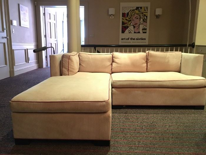 35) Corduroy Sectional