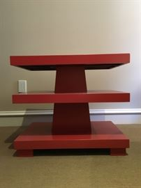 29) PAIR, Three Tiered Bed Side Tables