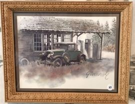 """1930 Ford Model """"A"""" Sport Coupe Giovenale Print"""