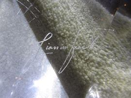 Original Signed Glass Art Table