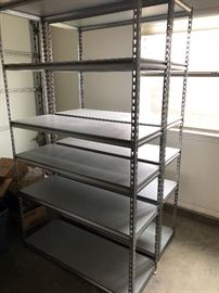 Commercial shelving, all steel construction 6(six) sets