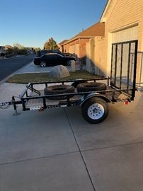 2017 single axle trailer 5x7 foot bed  Only $650