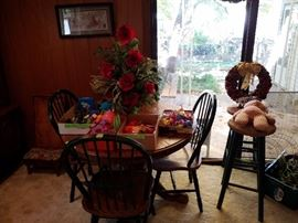 Toys, table, chairs, stools ect...