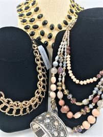Many pieces of designer costume jewelry - some new with tags.