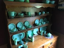 Huge collection of Fire-King jadeite (there's more...)