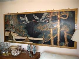 6 piece Asian bird wall art