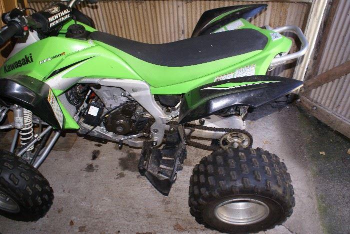 2008 KFX450R Kawasaki Quad Racer