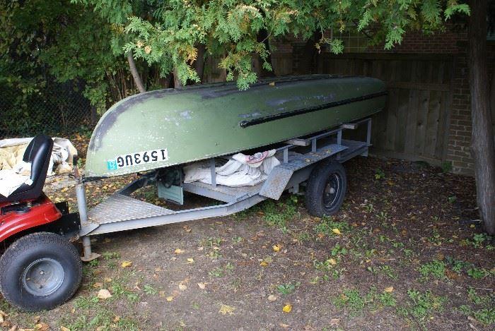 Aluminum Roll Boat Trailer not for sale