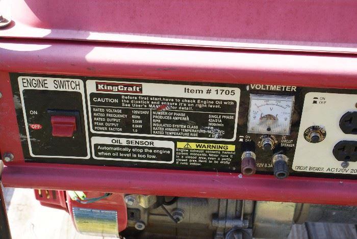 KingCraft 5000 Watt Generator