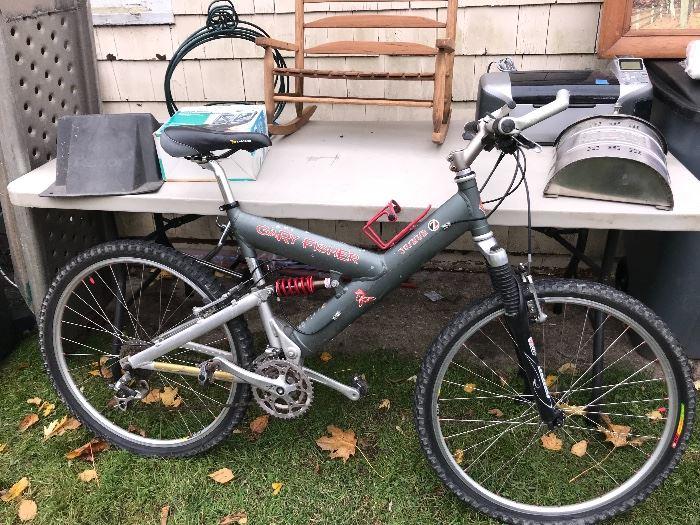 Gray Fisher Racing Mountain Bike