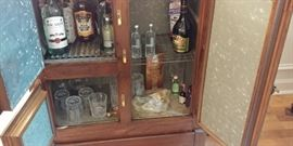 Contents of cabinet not for sale