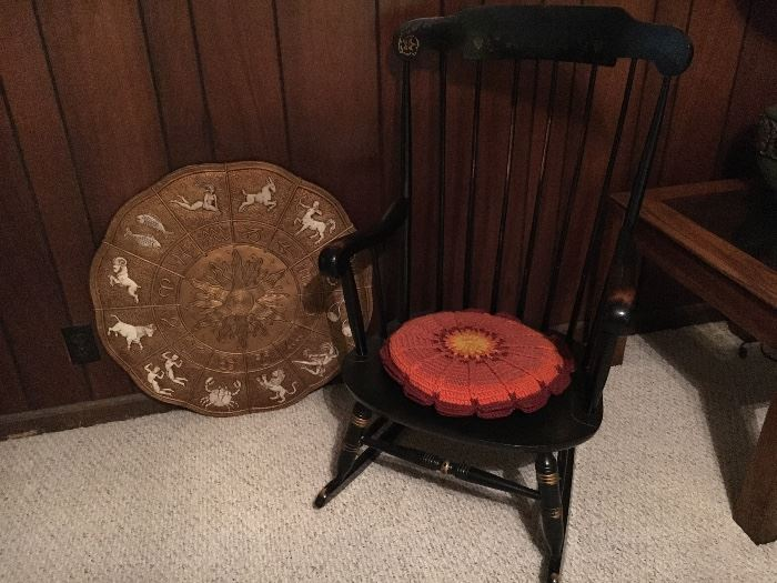 Assorted vintage furniture and decor.