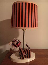 Vintage tiger lamp.