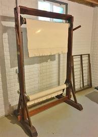 Vintage vertical weaving loom