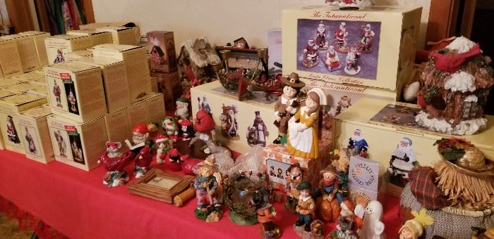 One of several Christmas tables