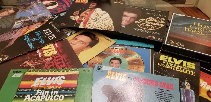 Lots and lots of Elvis records