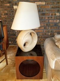 Mid mod table set. Large modern lamps