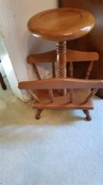 End table, Magazine Rack