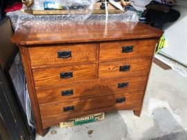#104.  All wood Dresser / Chest Prairie Style $200.