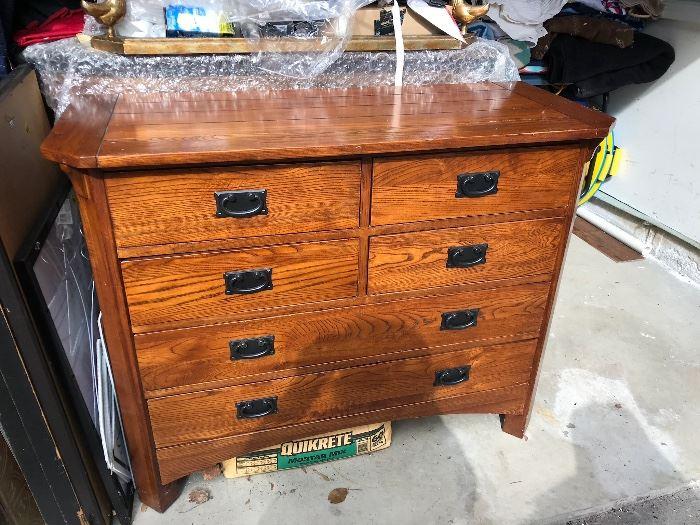 #104.  All wood Dresser / Chest Prairie Style $200.